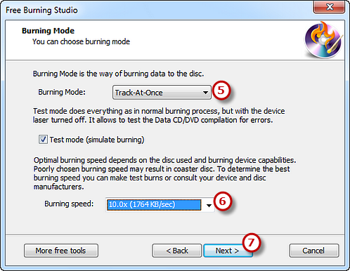 Select Burning Mode & Speed and Start Burning