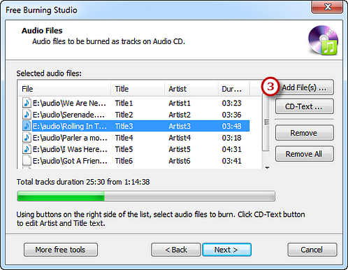 Add Audio Files