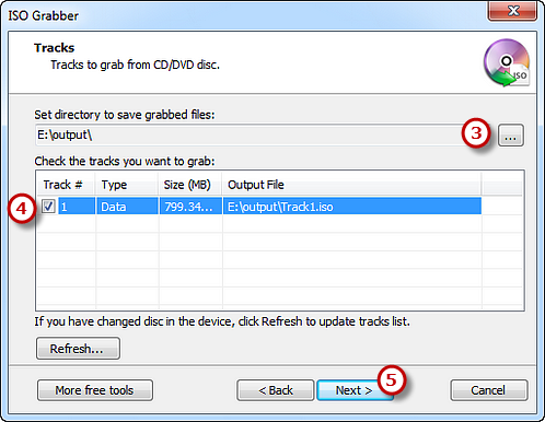 Select Output Folder, Check the Tracks & Start Ripping