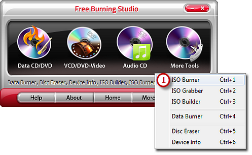 Burn ISO to CD DVD
