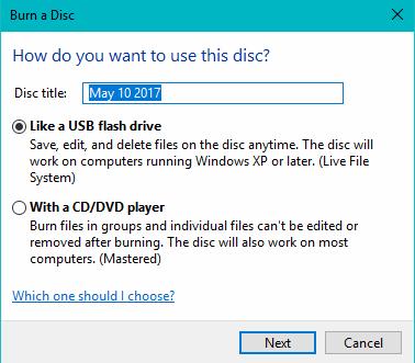 Burn Data DVD Using File Explorer in Windows